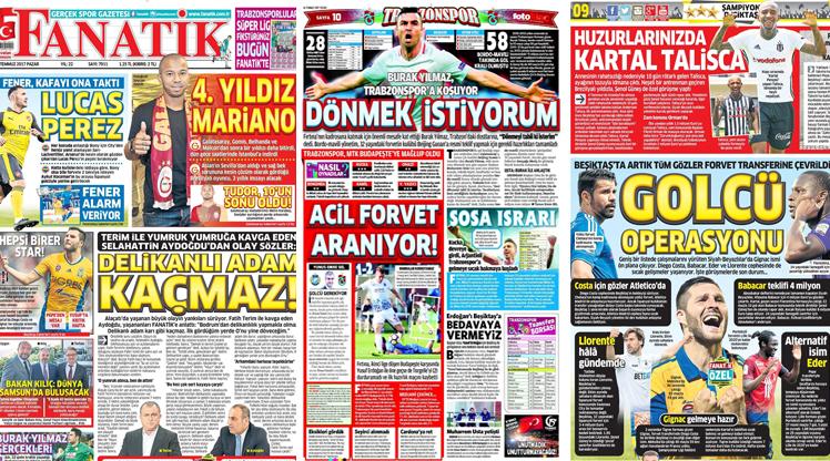 16 Temmuz gazete manşetleri
