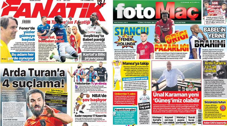 16 Ekim gazete manşetleri