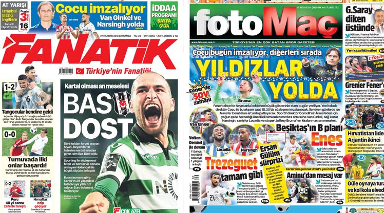 27 Haziran gazete manşetleri