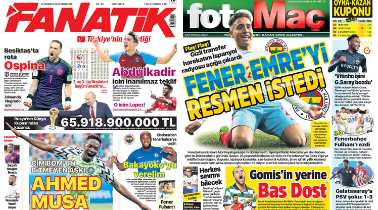 19 Temmuz gazete manşetleri