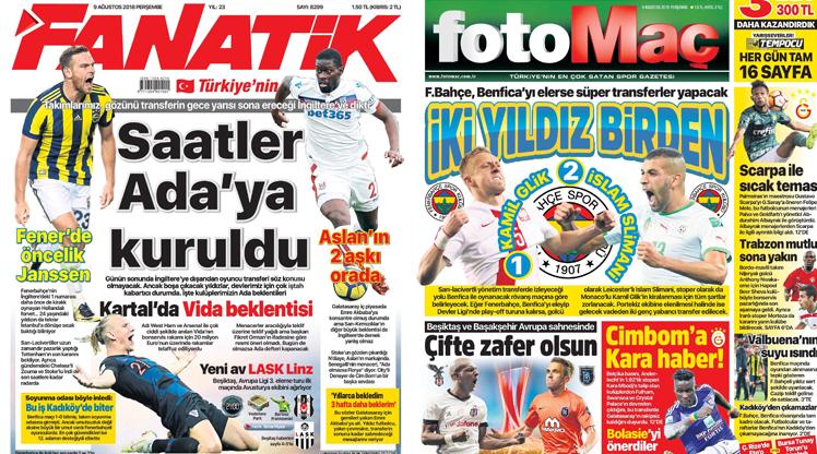 9 Ağustos gazete manşetleri