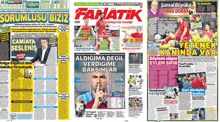 12 Eylül gazete manşetleri