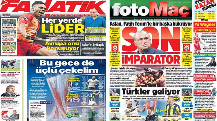 20 Eylül 2018 gazete manşetleri