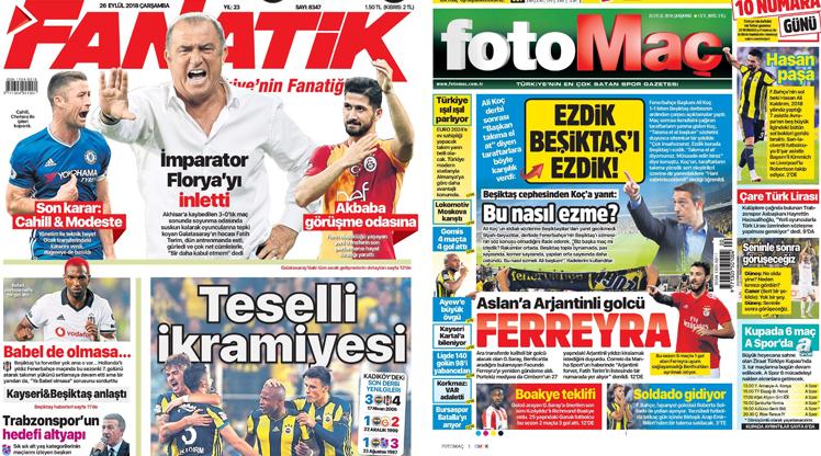 26 Eylül gazete manşetleri