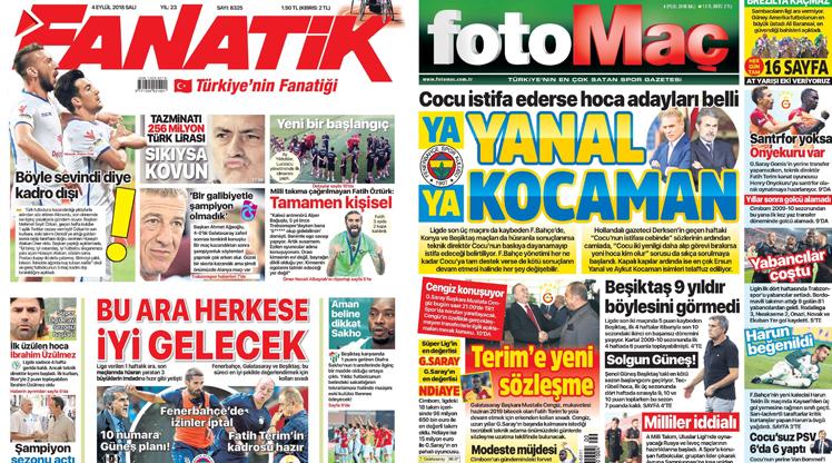 4 Eylül gazete manşetleri