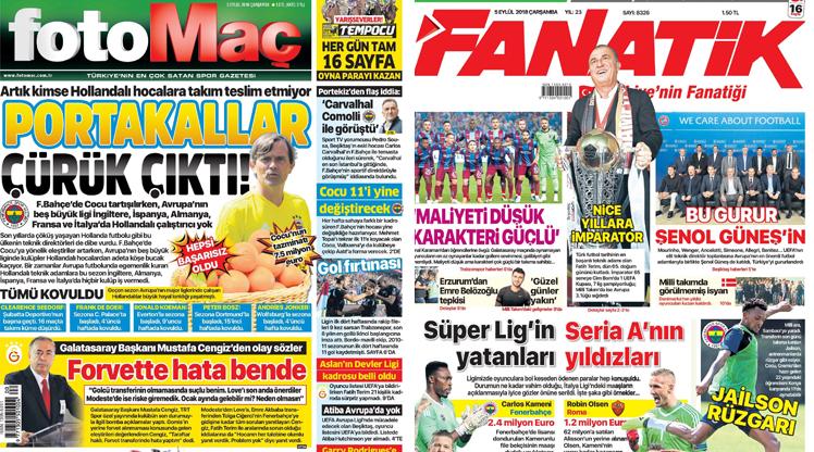 5 Eylül gazete manşetleri