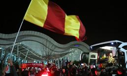 Galatasaray kafilesi, Hatay'a geldi