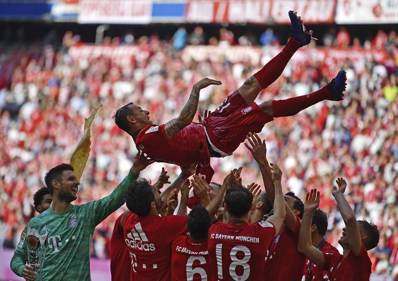 Bayern Münih'in şampiyonluk kutlamaları