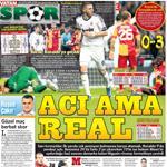 İşte Real Madrid-G.Saray maçıyla ilgili atılan manşetler.