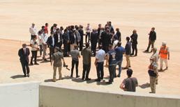 Nihat Özdemir, Hatay'daki yeni stadı inceledi