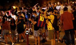 Barcelona taraftarından Messi'ye büyük destek