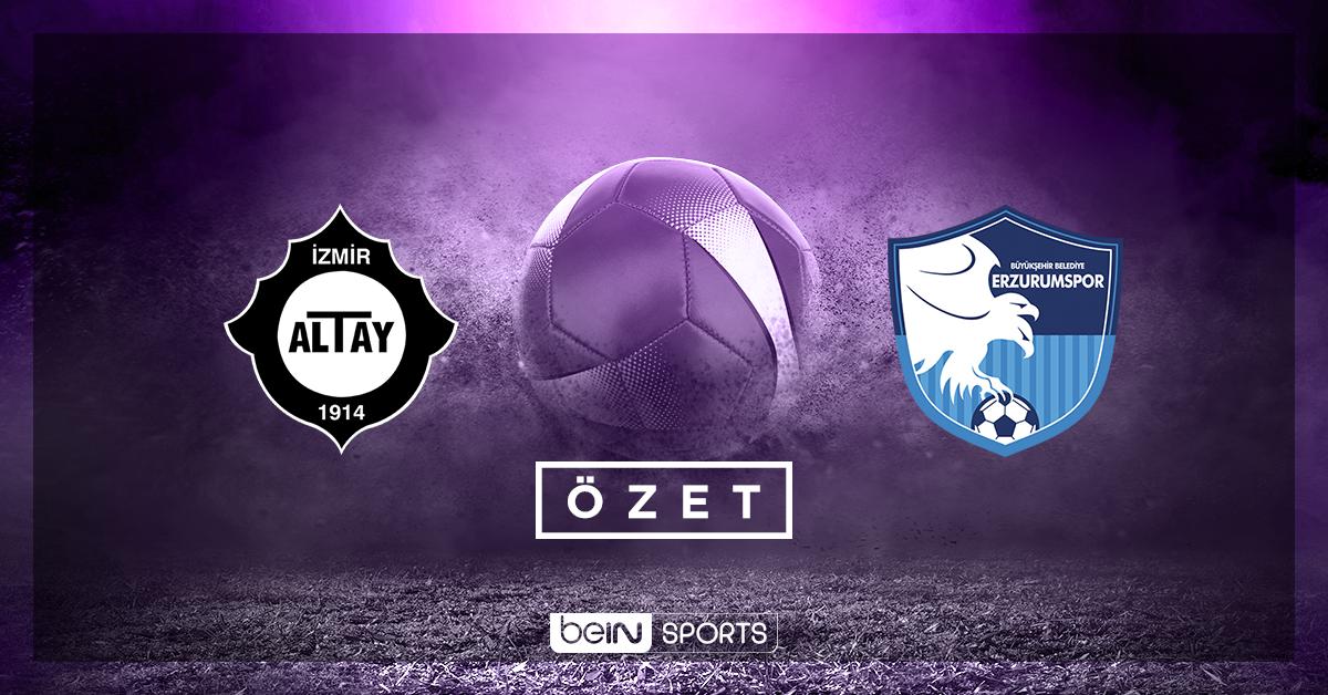 Altay BŞB Erzurumspor maç özeti