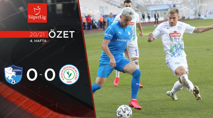 BŞB Erzurumspor Çaykur Rizespor maç özeti