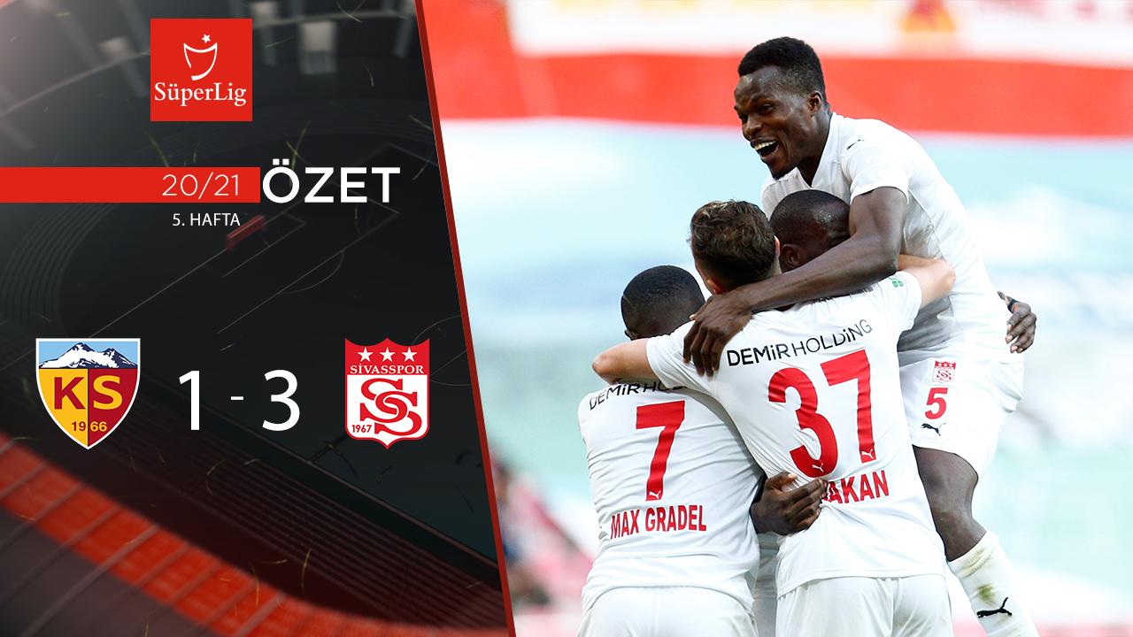 Hes Kablo Kayserispor Demir Grup Sivasspor maç özeti