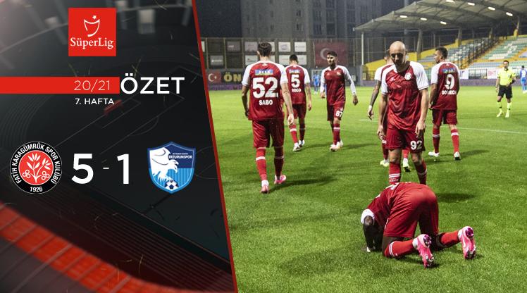 Fatih Karagümrük BŞB Erzurumspor maç özeti