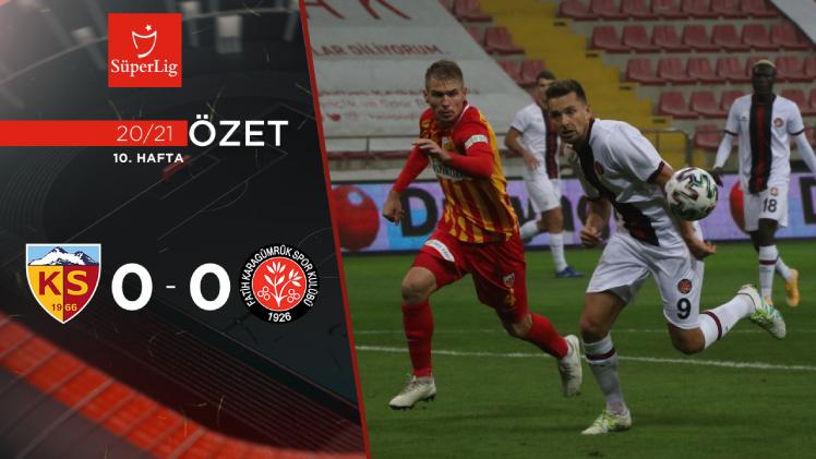 Hes Kablo Kayserispor Fatih Karagümrük maç özeti