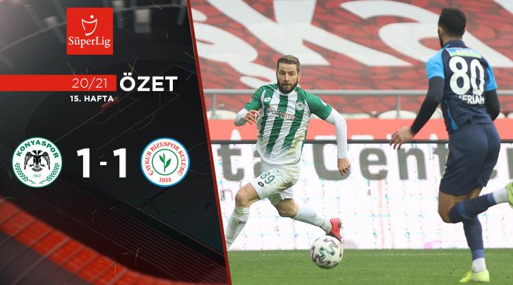 İttifak Holding Konyaspor Çaykur Rizespor maç özeti