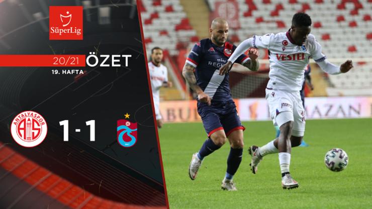Fraport TAV Antalyaspor Trabzonspor maç özeti