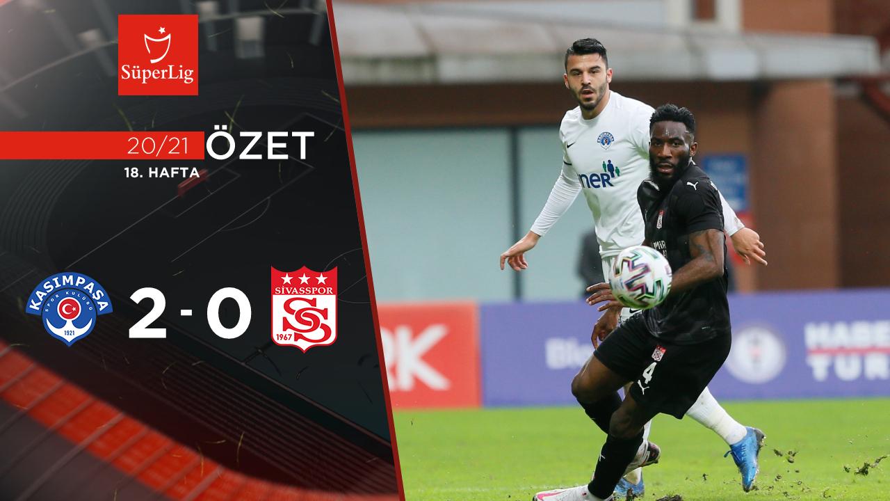 Kasımpaşa Demir Grup Sivasspor maç özeti