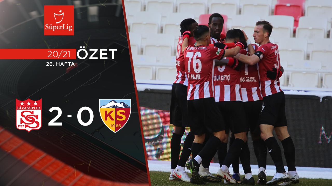 Demir Grup Sivasspor Hes Kablo Kayserispor maç özeti