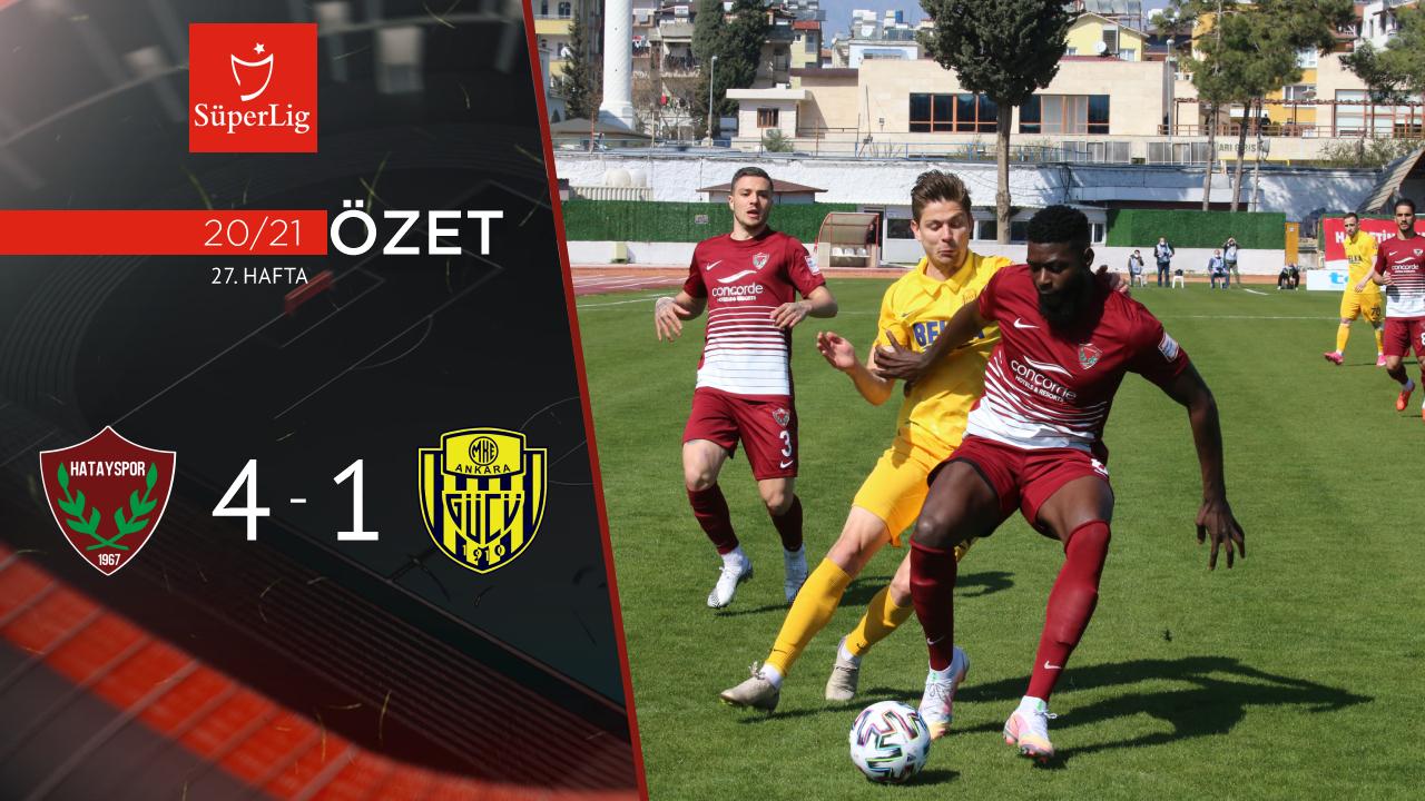 Atakaş Hatayspor MKE Ankaragücü maç özeti