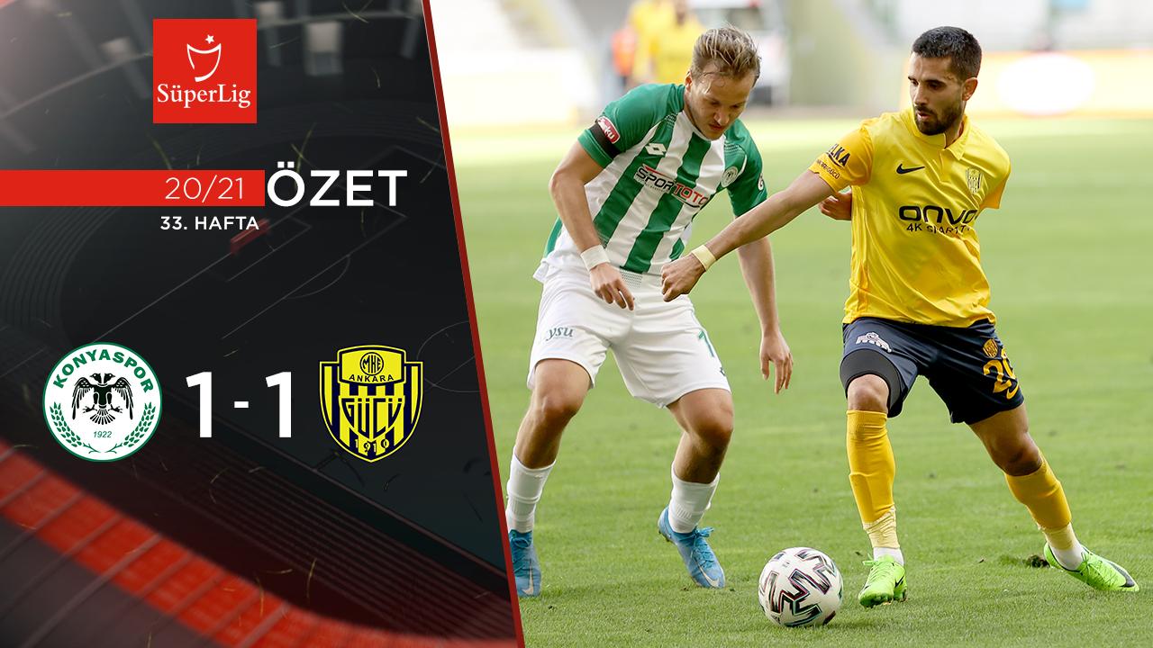 İttifak Holding Konyaspor MKE Ankaragücü maç özeti