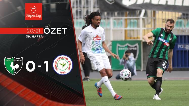 Yukatel Denizlispor Çaykur Rizespor maç özeti