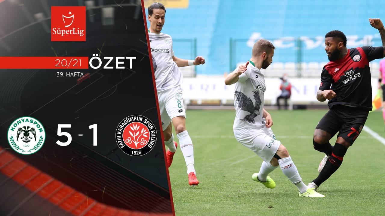 İttifak Holding Konyaspor Fatih Karagümrük maç özeti