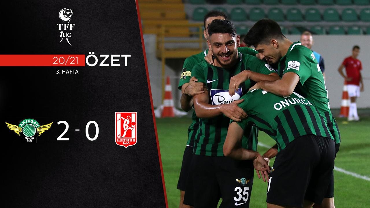 Akhisarspor Balıkesirspor maç özeti