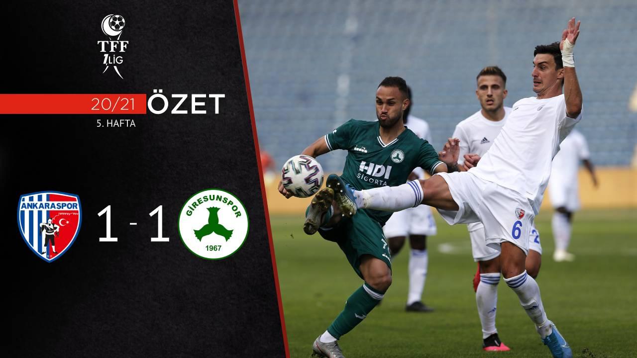 Ankaraspor Giresunspor maç özeti