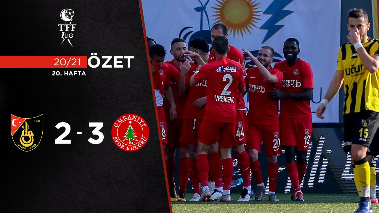 İstanbulspor Bereket Sigorta Ümraniyespor maç özeti