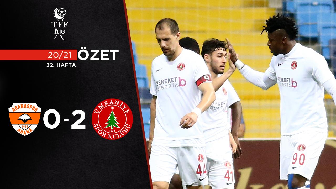 Adanaspor Bereket Sigorta Ümraniyespor maç özeti