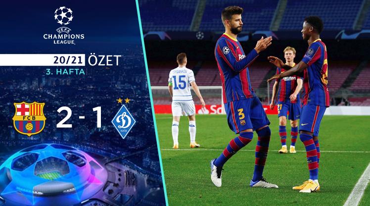 Barcelona Dinamo Kiev maç özeti