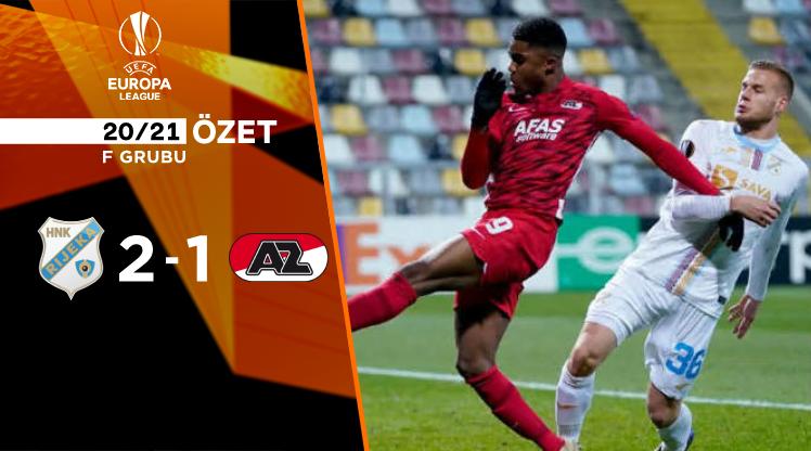 Rijeka AZ Alkmaar maç özeti